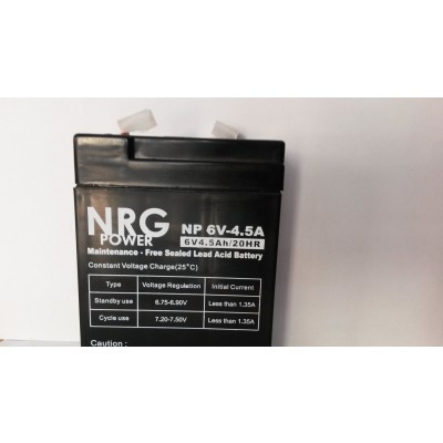 Μπαταρία NRG POWER -6V 4,5Ah