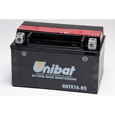 Μπαταρία Unibat YTX7A-BS - 12V 6Ah - 105 CCA(EN)