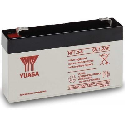 Μπαταρία Yuasa NP1.2-6 VRLA -6V 1,2Ah