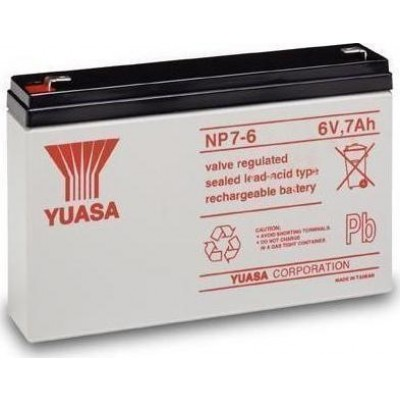 Μπαταρία Yuasa NP7-6 VRLA -6V 7Ah